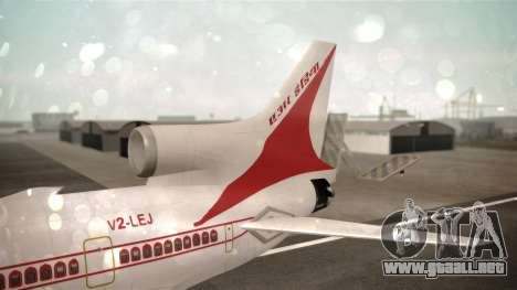 Lockheed L-1011 Air India para GTA San Andreas vista posterior izquierda