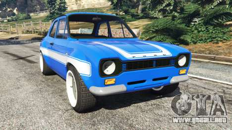 Ford Escort Mk1 v1.1 [blue] para GTA 5