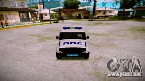 UAZ hunter Servicio PPP para visión interna GTA San Andreas