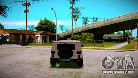 UAZ hunter Servicio PPP para la visión correcta GTA San Andreas