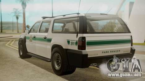 GTA 5 Declasse Granger Park Ranger para GTA San Andreas left