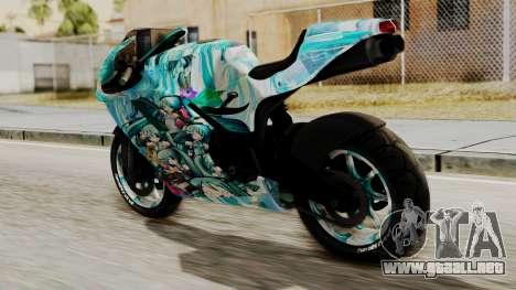 Bati Motorcycle Hatsune Miku Itasha para GTA San Andreas left