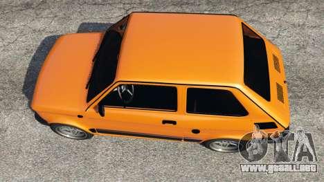 GTA 5 Fiat 126p v1.0 vista trasera