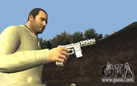 GTA 5 Tec-9 para GTA San Andreas séptima pantalla