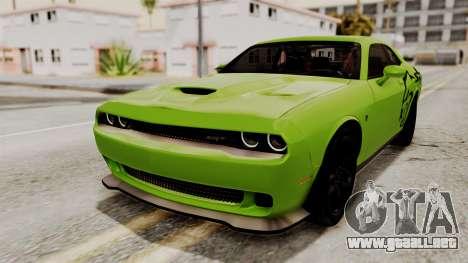 Dodge Challenger SRT Hellcat 2015 IVF PJ para las ruedas de GTA San Andreas