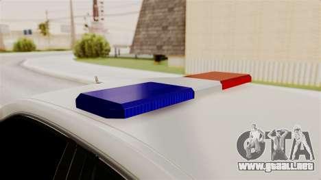 Mercedes-Benz E500 Ministerio del interior, la p para visión interna GTA San Andreas
