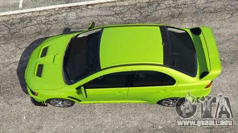 GTA 5 Mitsubishi Lancer Evolution X FQ-400 vista trasera