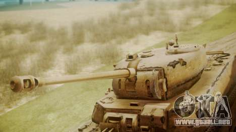 Heavy Tank M6 from WoT para la visión correcta GTA San Andreas