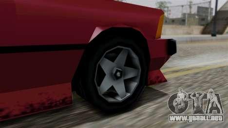 Sentinel XL from Vice City Stories para GTA San Andreas vista posterior izquierda