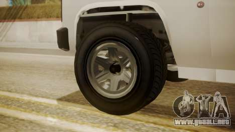 GTA 5 Declasse Rancher XL Police para GTA San Andreas vista posterior izquierda