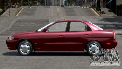 Daewoo Nubira I Sedan SX USA 1999 para GTA 4 left