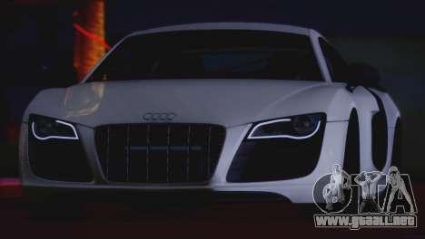 Audi R8 GT 2012 Sport Tuning V 1.0 para GTA San Andreas vista hacia atrás