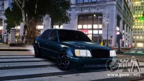 Mercedes-Benz E500 W124 para GTA 4 Vista posterior izquierda