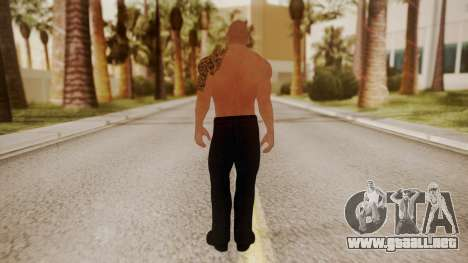 WWE 2K15 The Rock para GTA San Andreas tercera pantalla