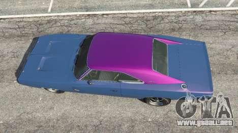 GTA 5 Dodge Charger RT 1970 v3.0 vista lateral izquierda trasera