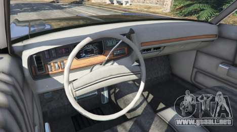 GTA 5 Dodge Polara 1971 Police v4.0 vista lateral trasera derecha