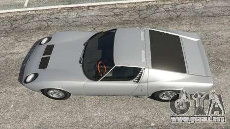 GTA 5 Lamborghini Miura P400 1967 v1.2 vista trasera