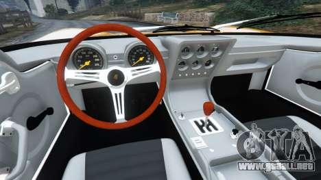 GTA 5 Lamborghini Miura P400 1967 vista lateral trasera derecha