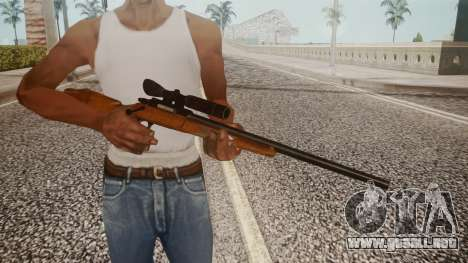 Low Poly Hunting Rifle para GTA San Andreas tercera pantalla