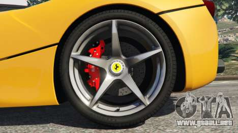 GTA 5 Ferrari LaFerrari 2013 v3.0 vista lateral trasera derecha