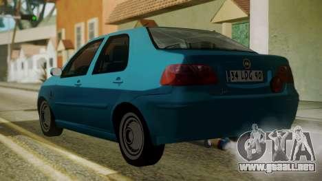 Fiat Albea Sole para GTA San Andreas left