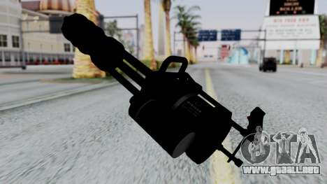 M134 Minigun para GTA San Andreas segunda pantalla