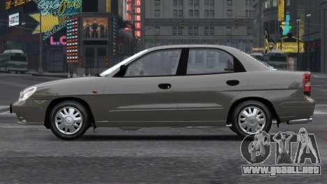Daewoo Nubira II Sedan S PL 2000 para GTA 4 vista lateral