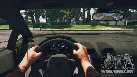 GTA 5 LibertyWalk Lamborghini Huracan vista trasera