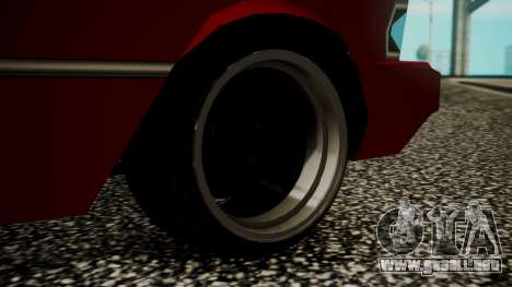 Sentinel Drift para GTA San Andreas vista posterior izquierda