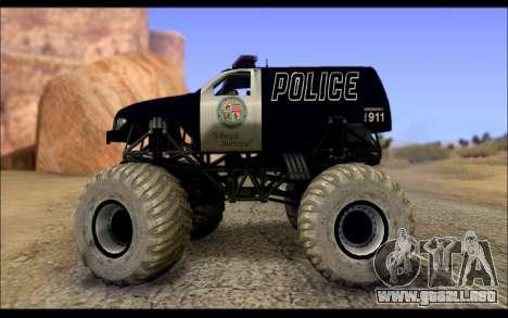 The Police Monster Trucks para GTA San Andreas left