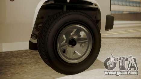 GTA 5 Declasse Rancher XL Police IVF para GTA San Andreas vista posterior izquierda