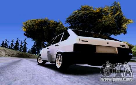 VAZ 2109 Turbo para GTA San Andreas vista hacia atrás