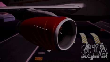 Airbus A319-100 Air India para la visión correcta GTA San Andreas