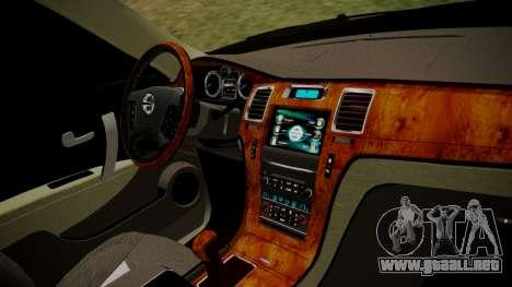Nissan Patrol IMPUL 2014 para la visión correcta GTA San Andreas