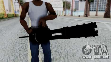 M134 Minigun para GTA San Andreas tercera pantalla