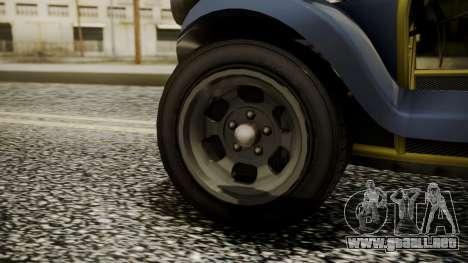 GTA 5 BF Bifta para GTA San Andreas vista posterior izquierda