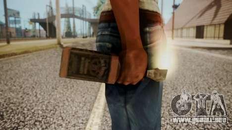 Molotov Cocktail from RE Outbreak Files para GTA San Andreas tercera pantalla