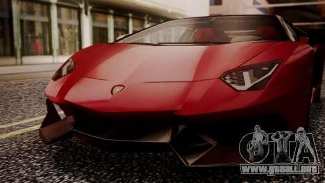 Lamborghini Aventador MV.1 para visión interna GTA San Andreas