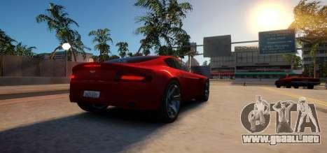 Aston Martin DB9 Vice City Deluxe para GTA 4 visión correcta