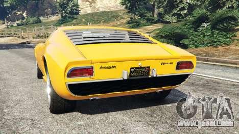 GTA 5 Lamborghini Miura P400 1967 vista lateral izquierda trasera