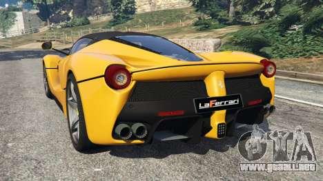 GTA 5 Ferrari LaFerrari 2013 v3.0 vista lateral izquierda trasera