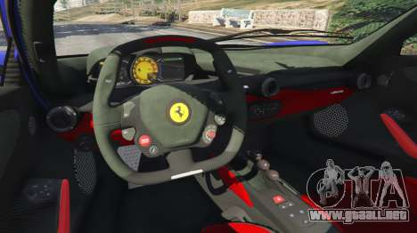 GTA 5 Ferrari LaFerrari 2013 v2.5 vista lateral trasera derecha