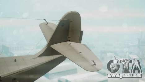 Grumman G-21 Goose Grey para GTA San Andreas vista posterior izquierda