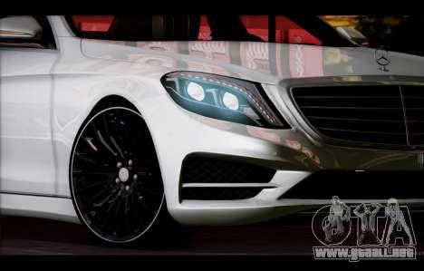 Mercedes Benz S63 W222 Artículos De Calidad para la vista superior GTA San Andreas