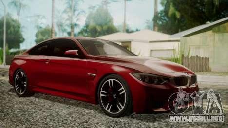 BMW M4 Coupe 2015 Walnut Wood para GTA San Andreas