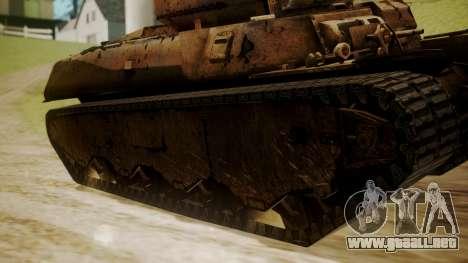 Heavy Tank M6 from WoT para GTA San Andreas vista posterior izquierda