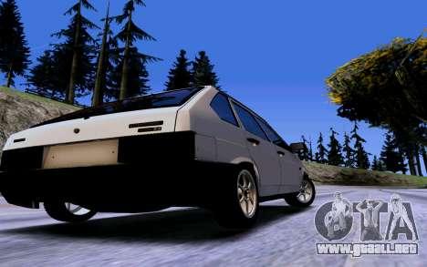 VAZ 2109 Turbo para visión interna GTA San Andreas