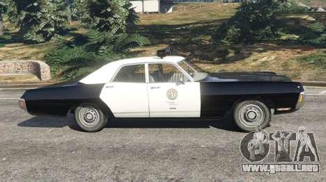 GTA 5 Dodge Polara 1971 Police v4.0 vista lateral izquierda