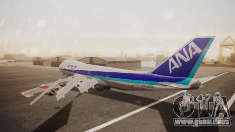 Boeing 747SR All Nippon Airways (NC) para GTA San Andreas vista posterior izquierda