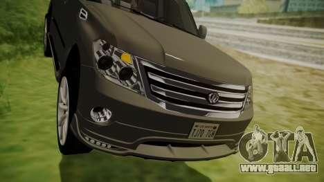 Nissan Patrol IMPUL 2014 para vista lateral GTA San Andreas